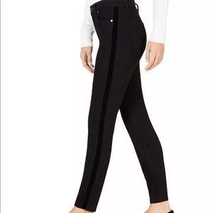 MAISON JULES Black Side-Striped Skinny Jeans 8/29